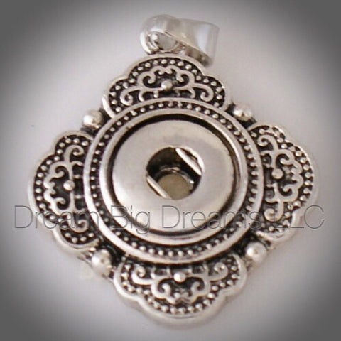 FAYE 12mm Metal Designed Snap Pendant