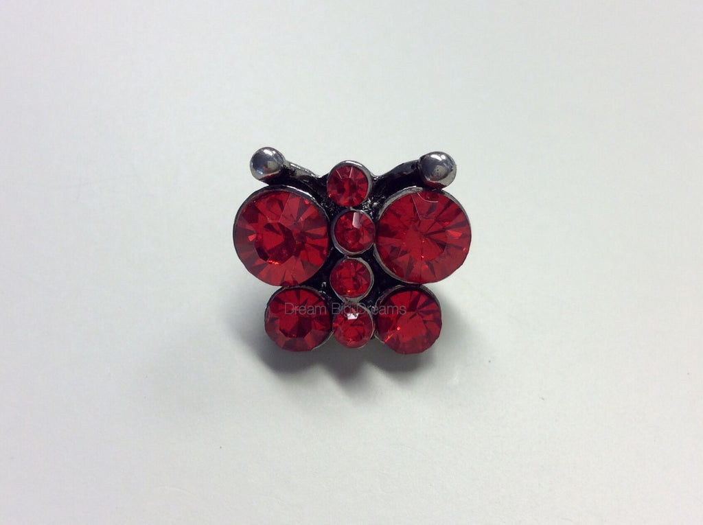 JORDAN Ruby Butterfly Mini 12mm Snap Button