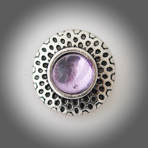 AUGUSTA Lilac  Mini 12mm Snap Button