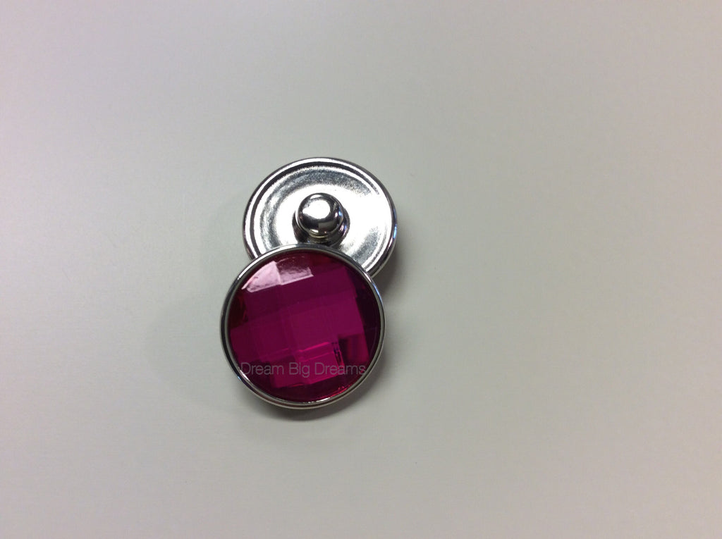 Crystal Pink TARA 18-24 mm Snap Button