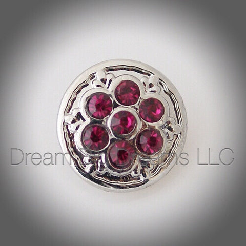 YASMINE Pink Mini 12mm Snap Button