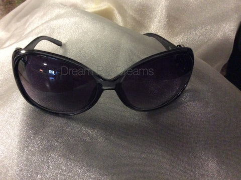 BELINDA Black 2 Button Fashion Snap Sun Glasses