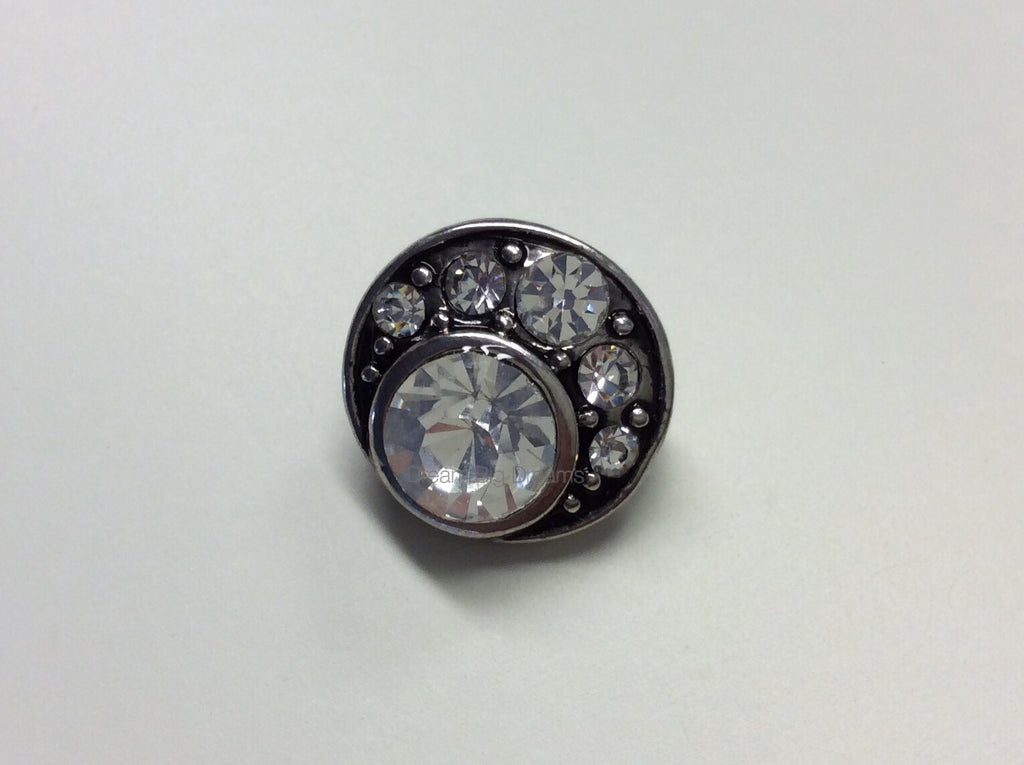 GAIL Cluster of Crystal Gems Mini 12mm Snap Button