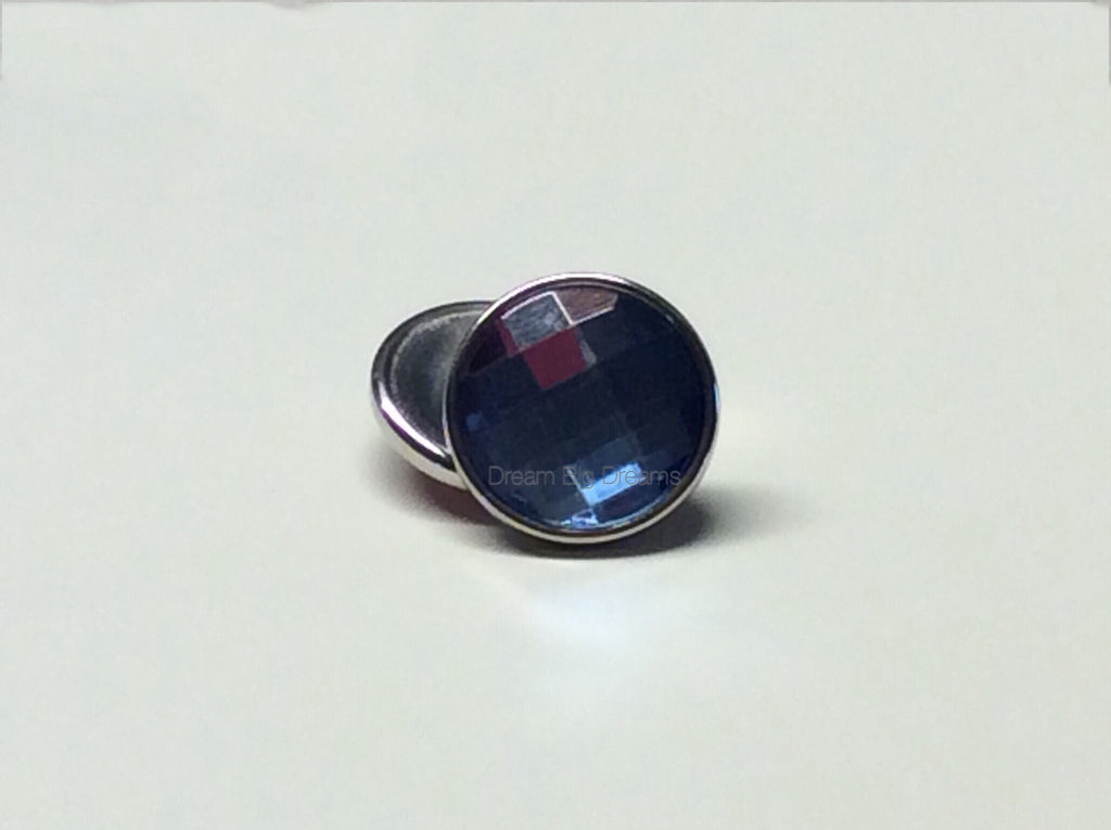Crystal Blue Zircon BETTY JUNE 18- 24 mm Snap Button