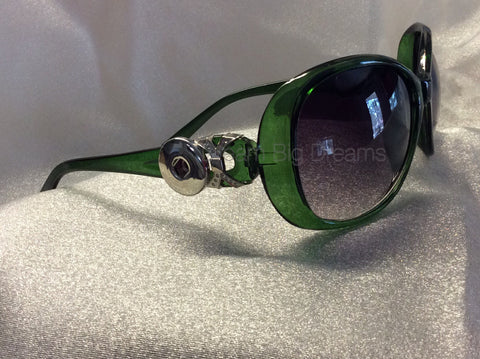 CALI Green 2 Button Fashion Snap Sun Glasses