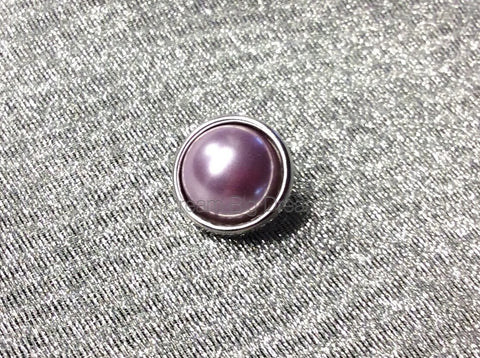 KAIA Purple Mini Pearl 12mm Snap Button