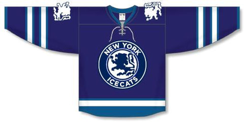 Icecats Navy Jersey Plus Hockey Socks