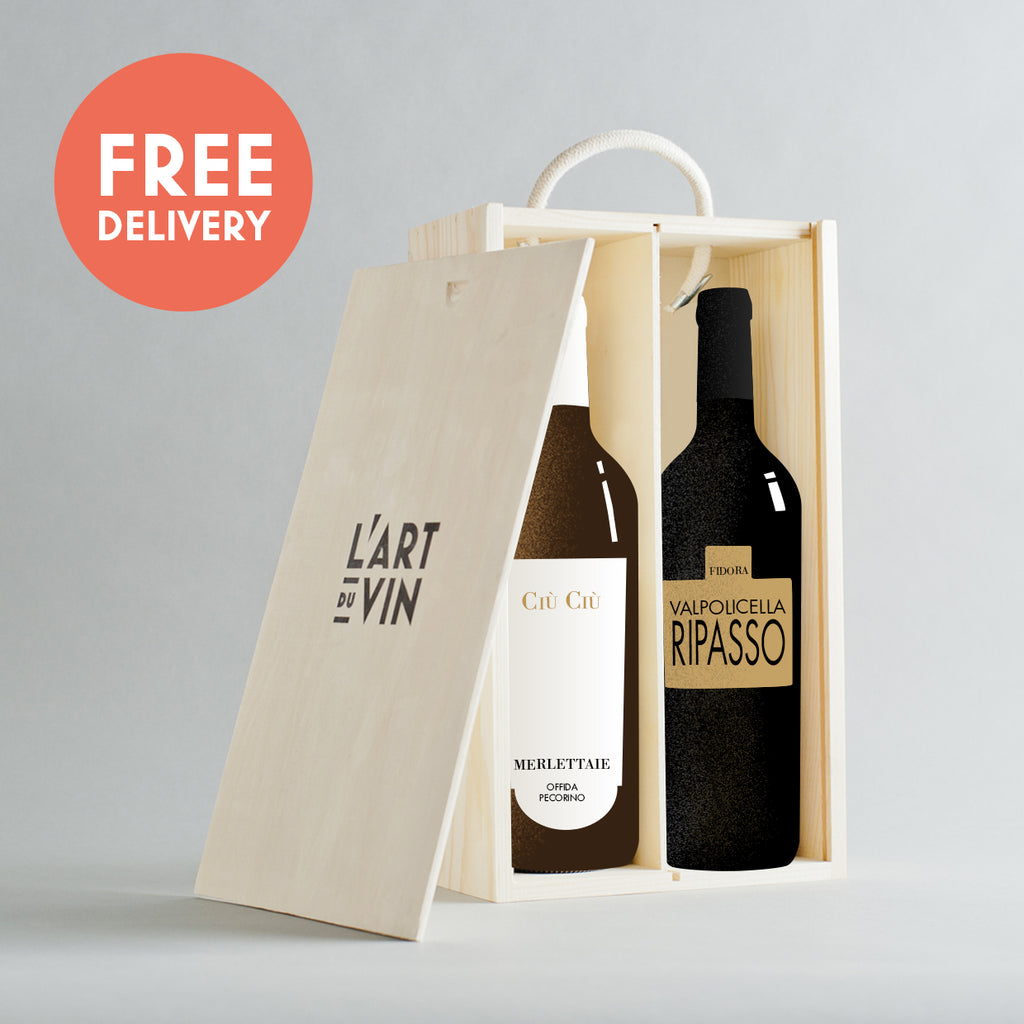 Pecorino + Ripasso Wooden Gift Box