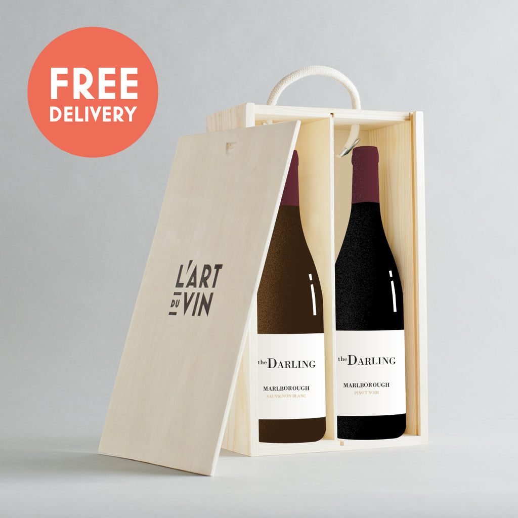Sauvignon Blanc + Pinot Noir The Darling Wooden Gift Box