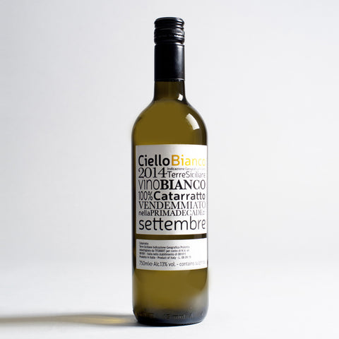 Unfiltered/Unfined Catarratto, Ciello, Sicily, Italy 2015
