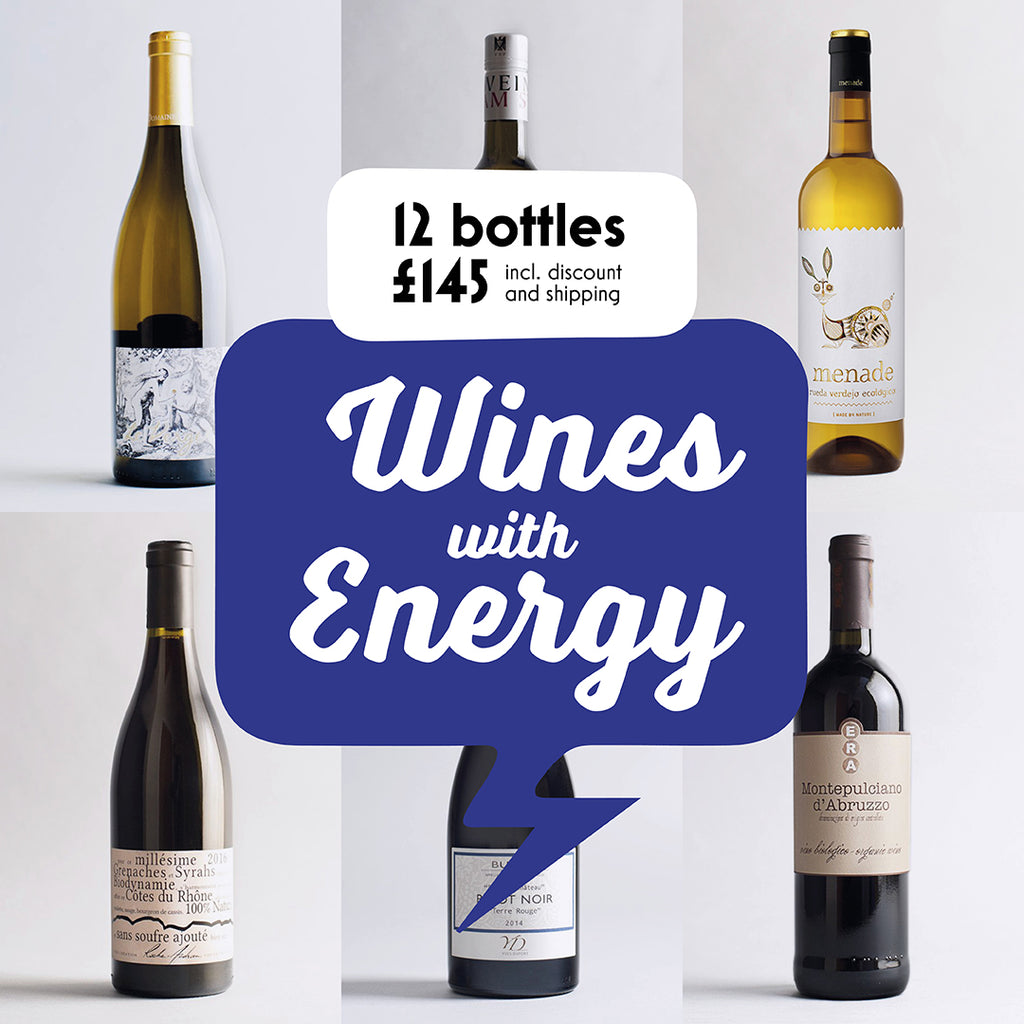 Case by Case: Wines with Energy! 12 bottle selection