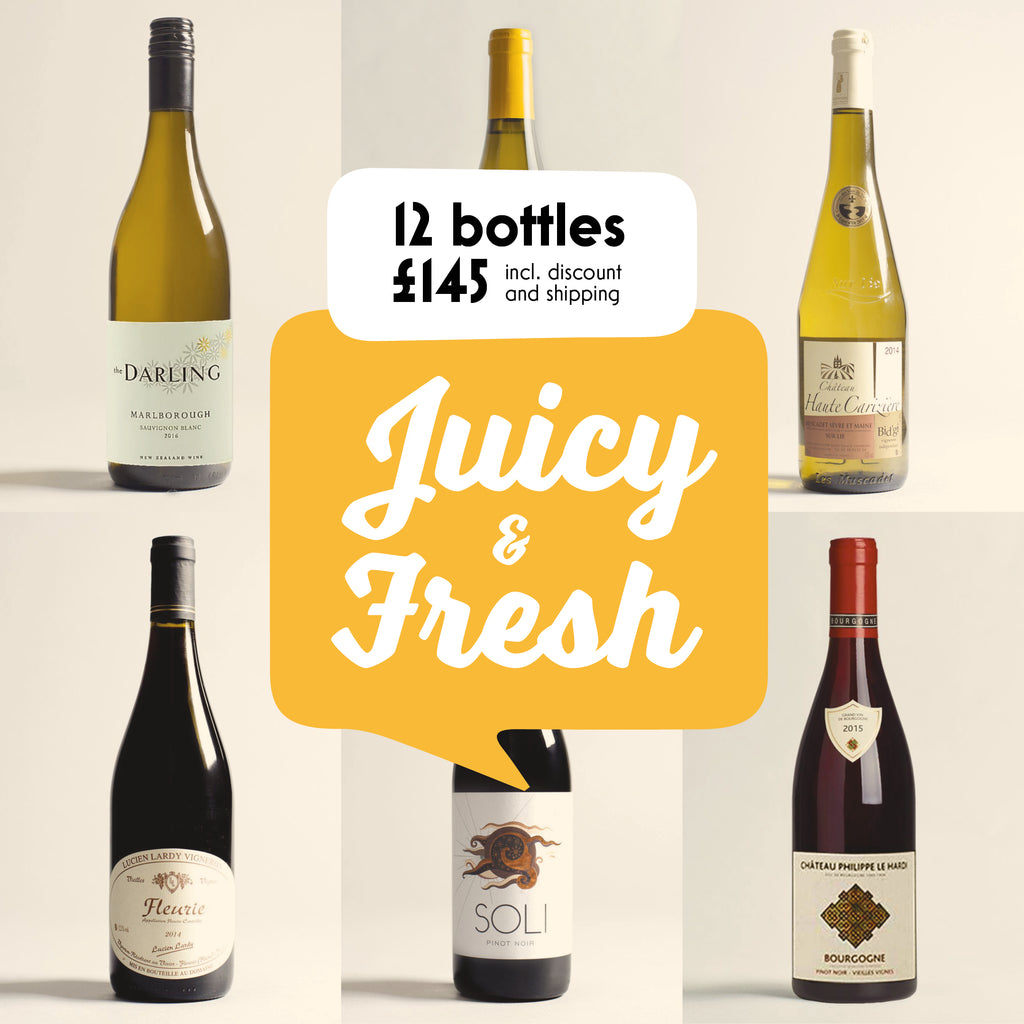 Case by Case: Juicy and Fresh! 12 bottle selection