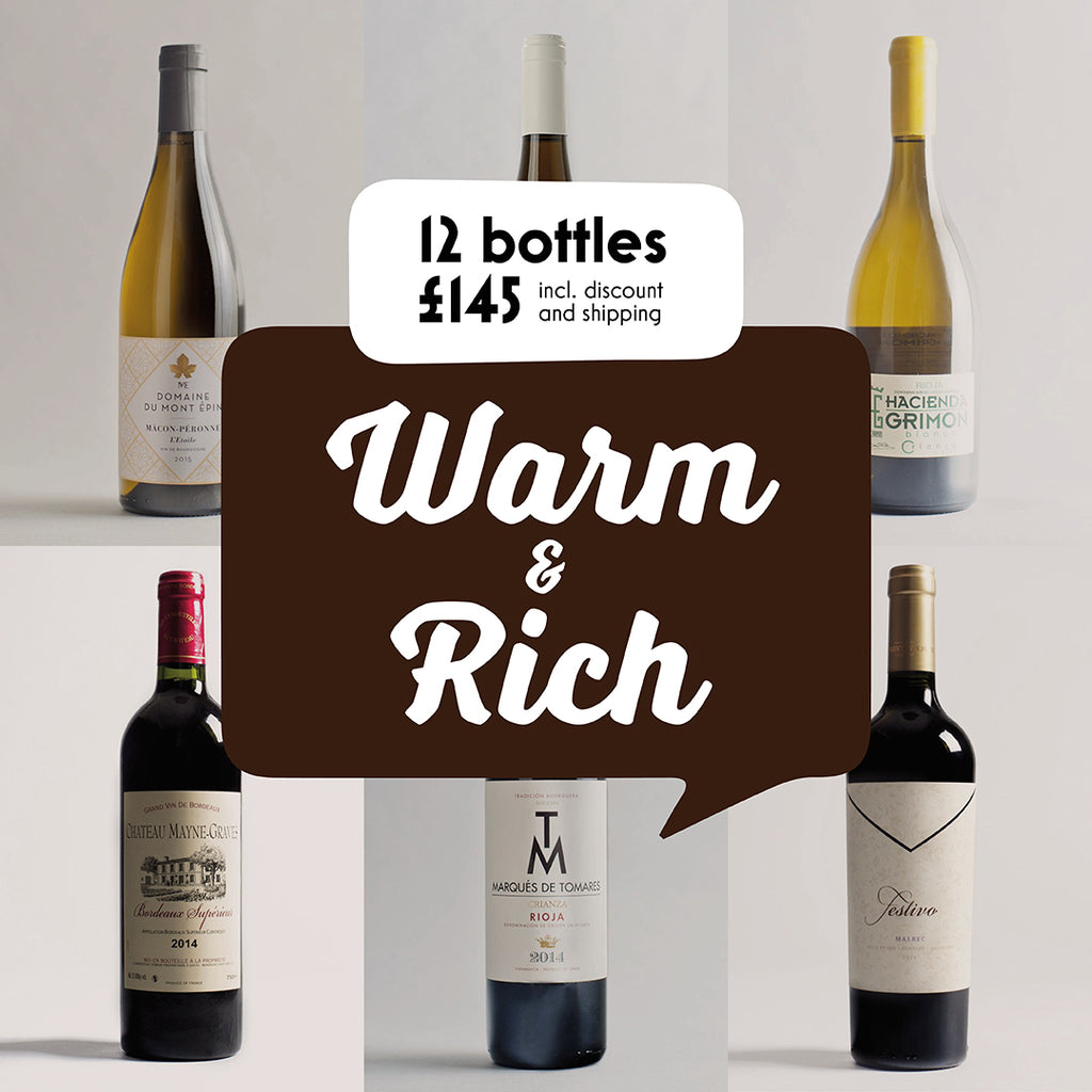 Case by Case: Warm and Rich! 12 bottle selection