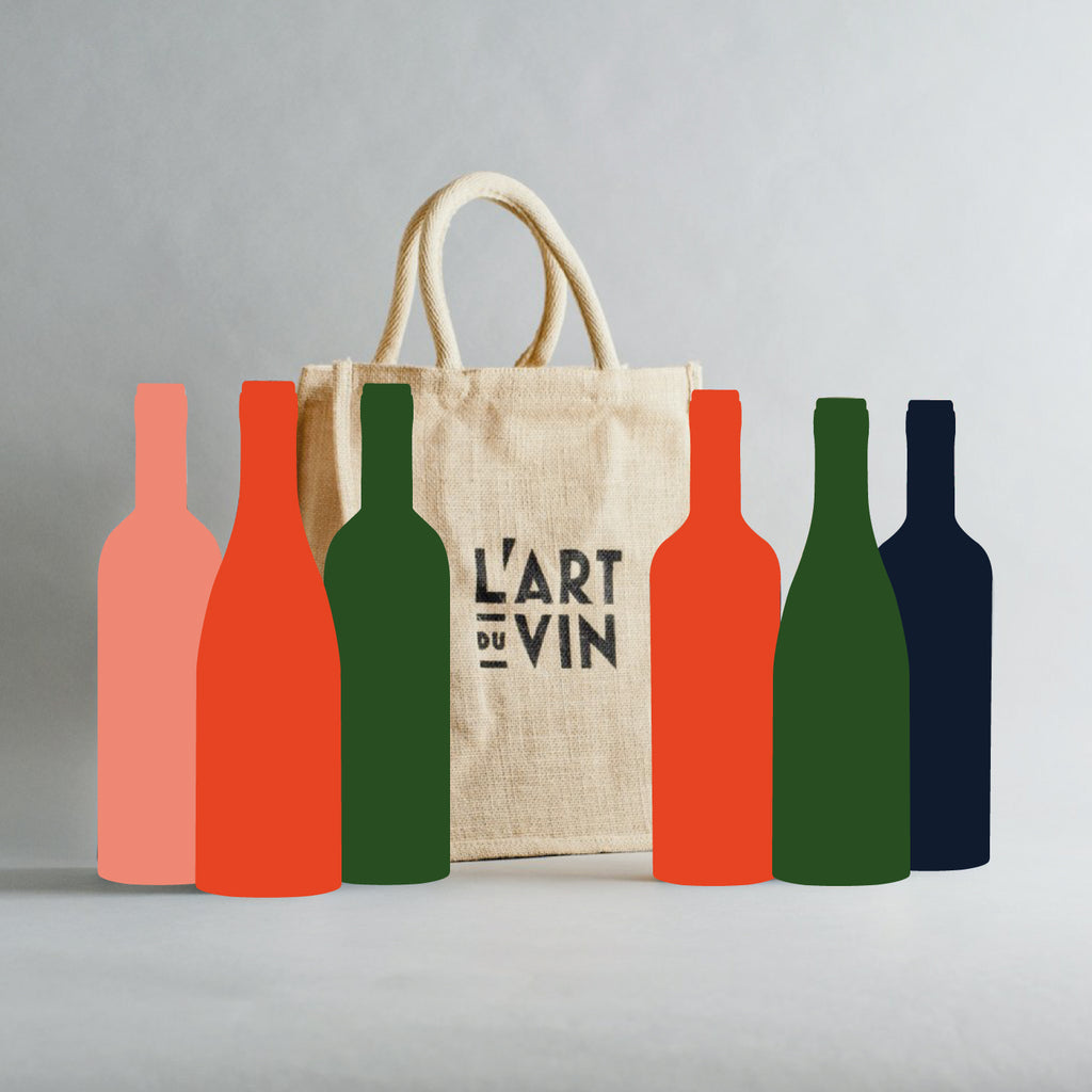 6 Bottle Jute Gift Bag (Empty)
