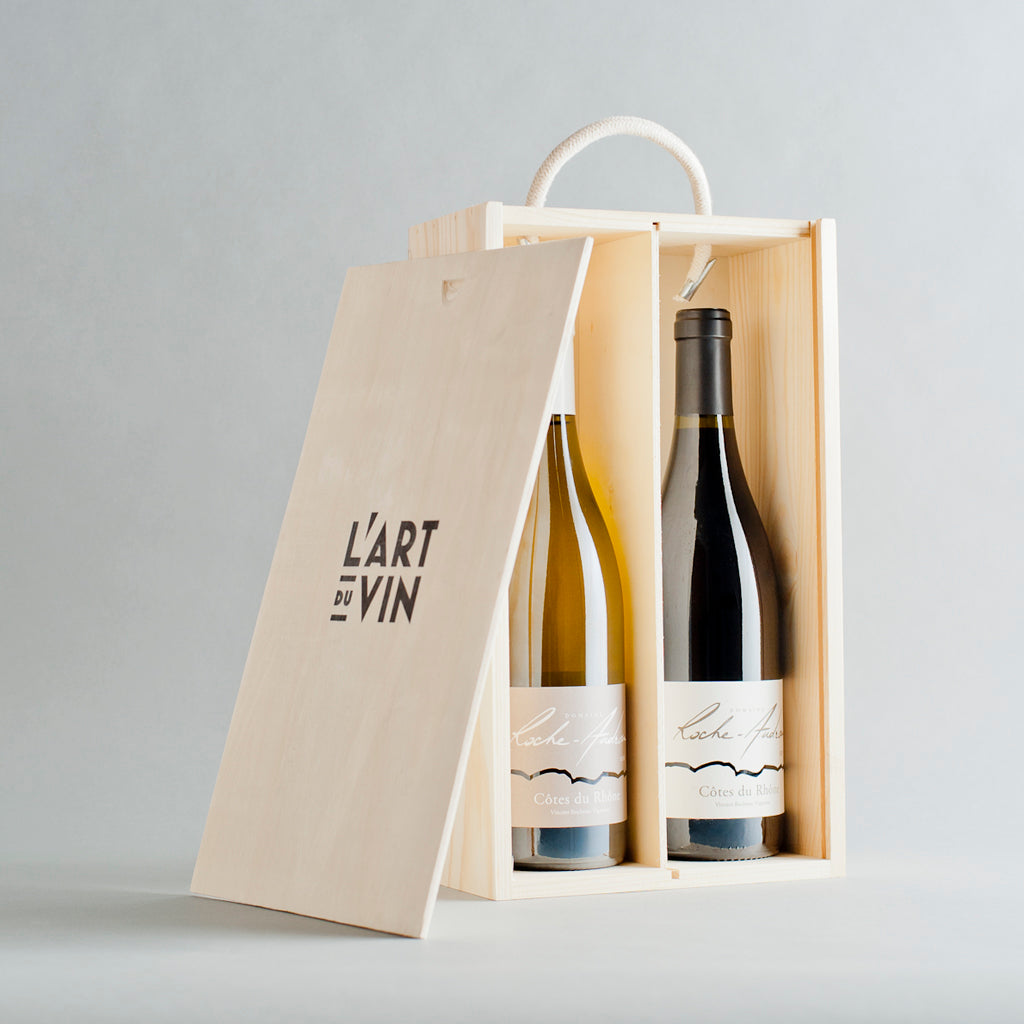 The Rhone Blanc & Red Wooden Gift Box