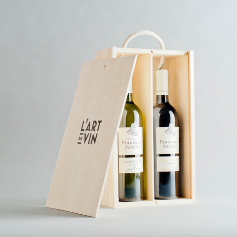 Corbieres Blanc +Rouge Wooden Gift Box