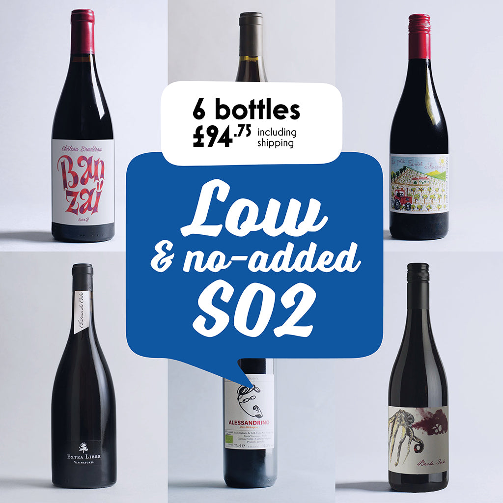 Case by case: Low & no-added SO2! 6 Bottle selection