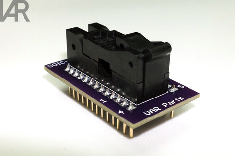 VAR Parts' SOIC-8 Socket to DIP-16 Adapter v1.1