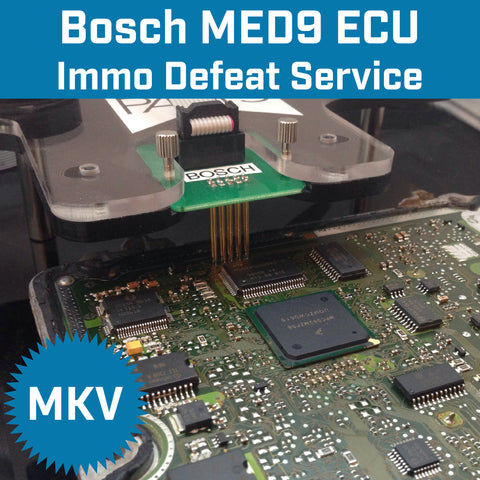VW MK5 MED9.1 ECU Immobilizer Off / Defeat / Delete Service