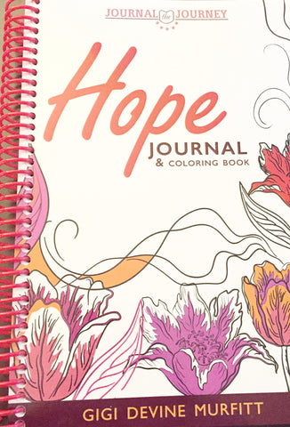 HOPE 6 x 9 Spiral Journal & Coloring Book