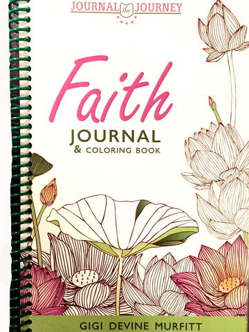 FAITH 6 x 9 Spiral Journal and Coloring Book