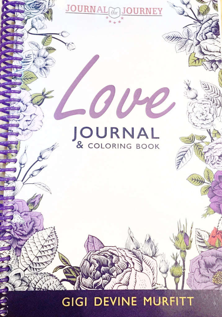 LOVE 6 x 9 Journal & Coloring Book Spiral