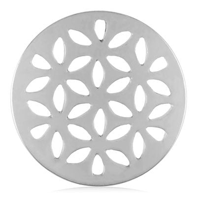 MIASŌL Lattice Flower Sōl Coin - Silver