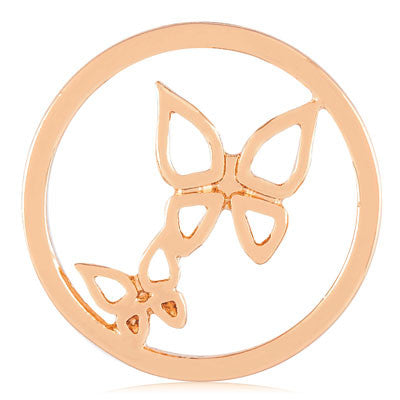 MIASŌL Butterfly Sōl Coin - Rose Gold