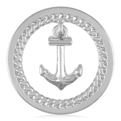 MIASŌL Dangle Anchor Sōl Coin - Silver