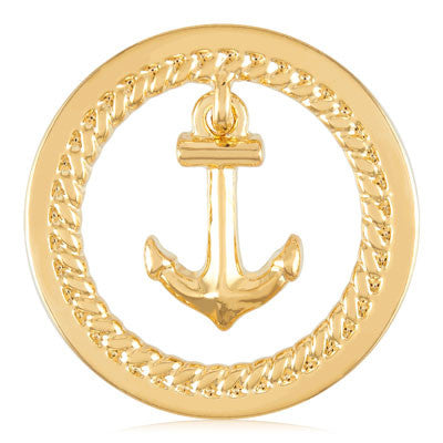 MIASŌL Dangle Anchor Sōl Coin - Gold