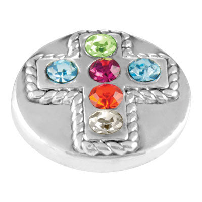 Lotti Dotties Multi Stone Cross Dottie
