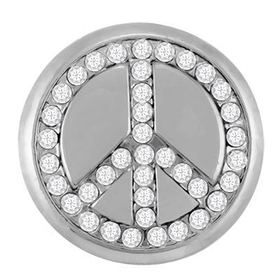 Ginger Snaps Studded Peace Sign Snap
