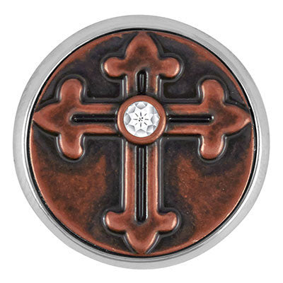 Ginger Snaps the Antique Copper Chapel Cross Snap
