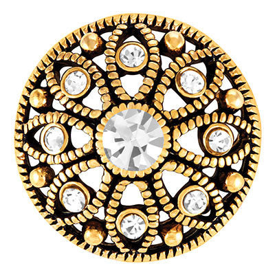 Ginger Snaps Antique Gold Mae Flower - Crystal Snap