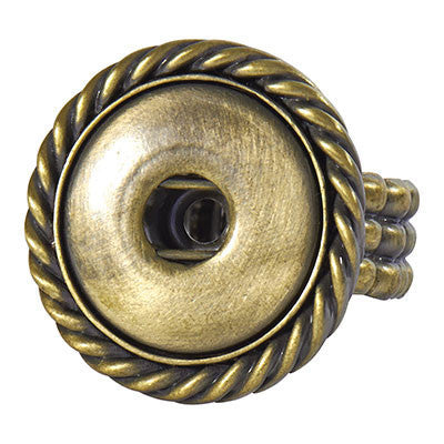 Ginger Snaps Antique Brass Stretch Snap Rope Ring