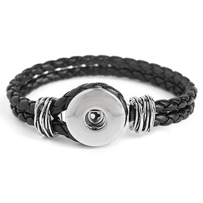 Ginger Snaps Double Plaited Bracelet - Black