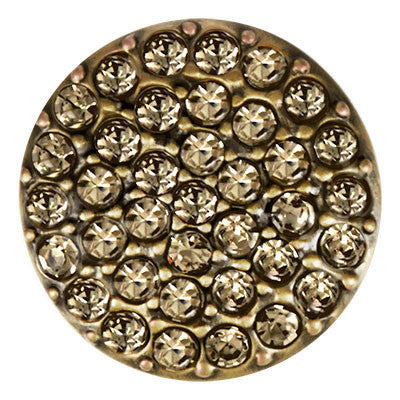 Ginger Snaps Brass Ritzy - Black Diamond Snap
