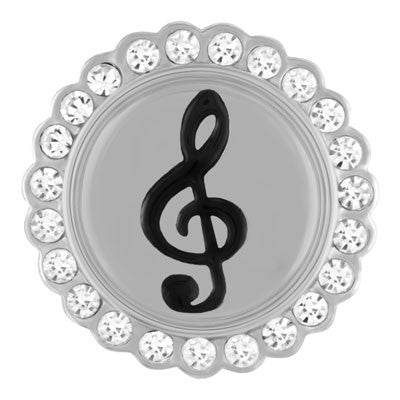 Ginger Snaps Music Clef with Bling