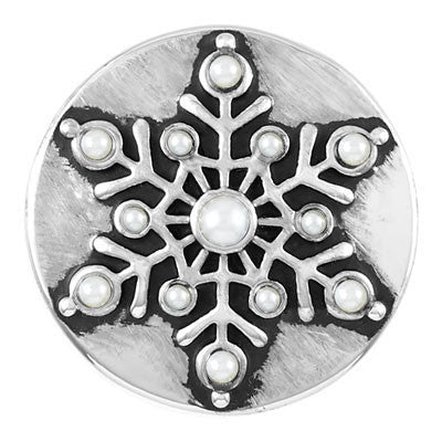 Ginger Snaps Snow Flake Snap - Silver