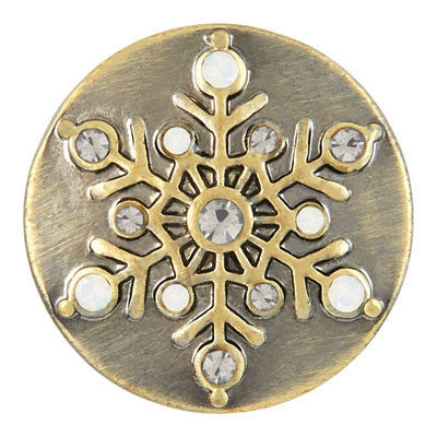 Ginger Snaps Snow Flake Snap - Antique Brass