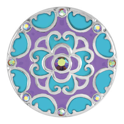 Ginger Snaps Blossom - Turquoise and Purple