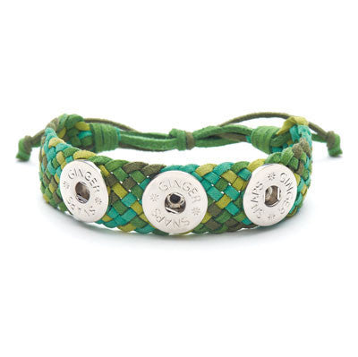 Ginger Snaps Suede Criss-Cross Bracelet - Green