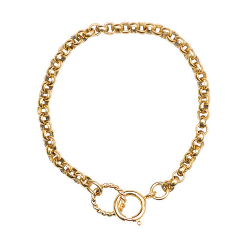 Bracelet Chain Gold Charm Holder