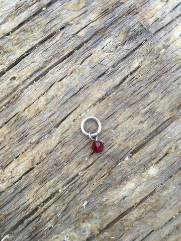 Tiny January Crystal Birthstone Pendant