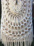 Crochet Tunic with Fringe - 2 colours available