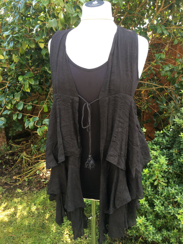 Country Ruffle Vest - 2 colours available