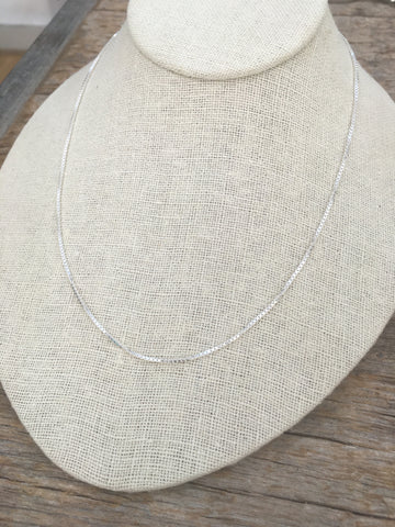 Box chain necklace 1.2mm, 18 inch