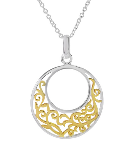 Sophie Oliver Valencia Filigree Disc Necklace