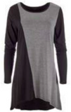 Flexible Colour Block Tunic - 2 colours available