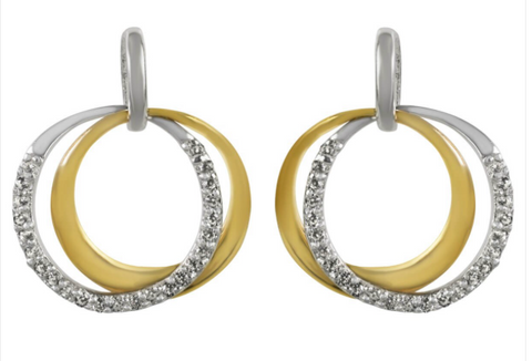 Sophie Oliver Valencia Interlocking Rings Earrings